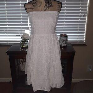 Old Navy White eyelet strapless dress